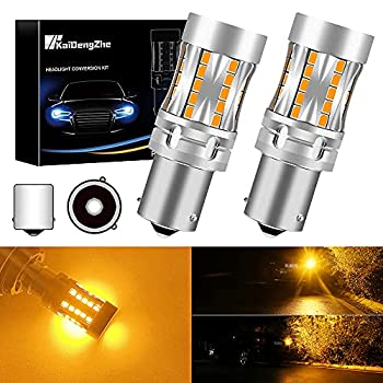 PY21W LED Bulb KaiDengZhe 1156 1156PY BAU15S RY10W Car LED Turn Signal Light Bulb 46-3020SMD Canbus Error Free 12-24V 21W Replacement For Car Front and RearTurn Signal Light Amber Yellow Pack of 2