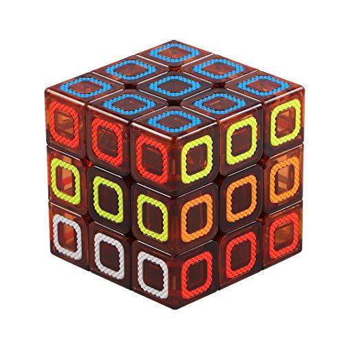 azorex Cubo de Velocidad Cubo Mágico 3x3x3 Puzzle Inteligencia Rompecabeza Fácil de Giro Duradero Anti-Torsión Tensión Ajustable (3 * 3 * 3)