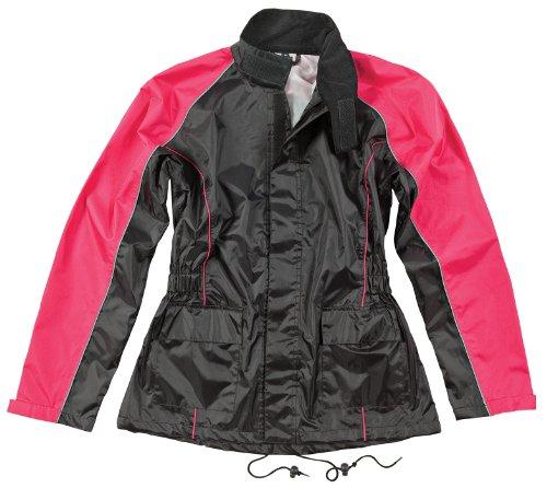 Joe Rocket RS2 Womens 2-Piece Motorcycle Rain Suit (Black/Pink, Large)