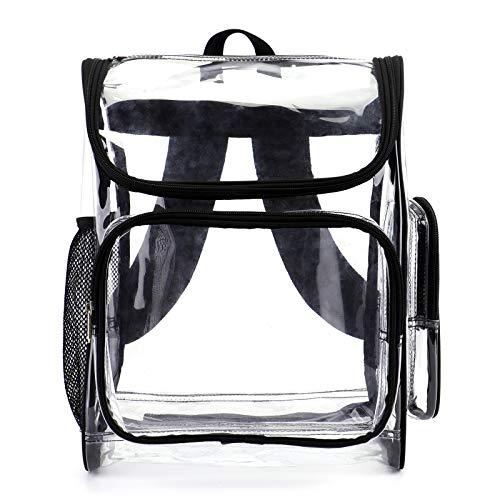 Conlene strapazierfähiger transparenter Rucksack mit mehreren Fächern, durchsichtig, für Studenten, Schule, Büchertasche, hochwertig, durchsichtig, Stadion-geprüfte Rucksäcke