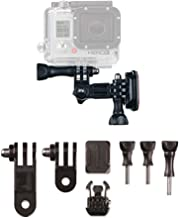 Action Mount Helmet Mounts (Flat & Curved) with 3-Way Pivots for Popular Sports Camera, or Other Action Mount Products. Fl...