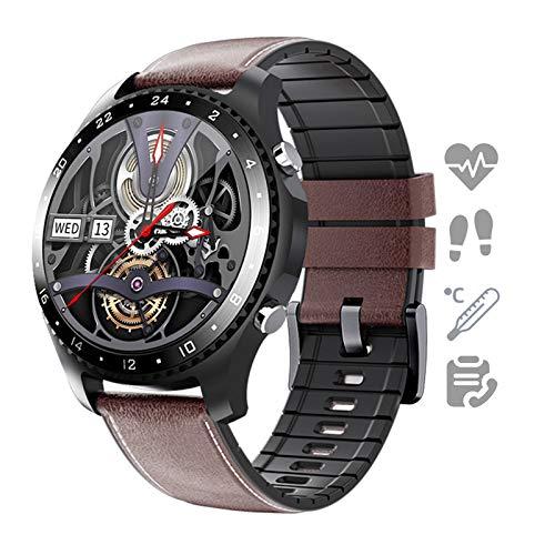 HQPCAHL Smartwatch Reloj para Android iOS con Llamada Bluetooth Monitor De Temperatura Frecuencia Cardíaca Presión Arterial Spo2 Sueño, Monitores De Actividad con 11 Deportes,I