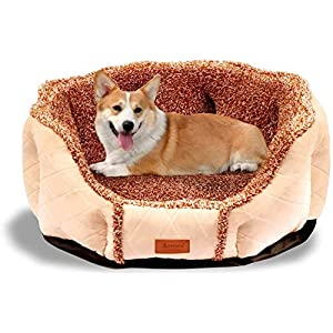 YIHATA Dog Bed Cat Bed Cushion Bed for for Dog Cat Joint-Relief and Improved Sleep – Machine Washable, Waterproof Bottom
