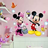 RoomMates Mickey Minnie Mouse Wall Stickers Vinyl Decal Kids Nursery Baby Room Decor