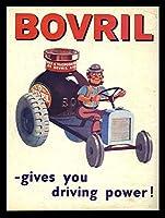 Bovrilはあなたに運転力を与えます メタルポスター壁画ショップ看板ショップ看板表示板金属板ブリキ看板情報防水装飾レストラン日本食料品店カフェ旅行用品誕生日新年クリスマスパーティーギフト