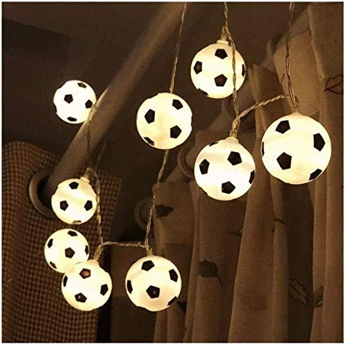 Raelf Guirnalda de luces LED para decoración de fútbol, guirnalda de luces LED para decoración de dormitorios, decoración del hogar, fiesta temática, Navidad, luces de hadas, luces de hadas (