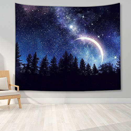 KHKJ Tapiz Galaxy Cielo Nocturno Tapiz Cielo Estrellado Tapiz Tapiz de Paisaje Sala de Estar Dormitorio Tapiz Decoración del hogar A2 150x130cm