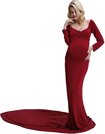 New & Beautiful Pregnant Womens Maxi Dress Lace Gown Maternity Photography Maternity Photo Props Mother & Kids Pregnancy & Maternity