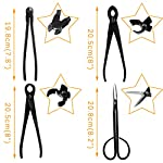 MOdeush Bonsai Tools and Supplies 10 Piece Indoor Garden Tree Shears Kit,Carbon Steel Scissor Cutter Shear Set Garden… 10 This 10-in-1 Bonsai Tools Kit Set is made of high quality carbon steel and polished by human hands,an ideal gift for bonsai lover. Including Leaf Trimmer, Scissors, Jin pliers, Root Hook, Knob Cutter, Aluminium Wires and Wire cutter, etc. All well packed in a Nylon zipped case. By using this Popular selection of tools kit, you will be able to loose the bonsai soil, pruning, cut the root, branches, leaves trimming.This Complete 10 Pcs Bonsai Tools Set can be applied in the whole process of cultivating your exquisite bonsai.