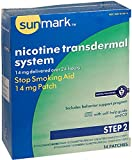 Sunmark Nicotine Transdermal System Step 2 Stop Smoking Aid, 14 mg, 14...