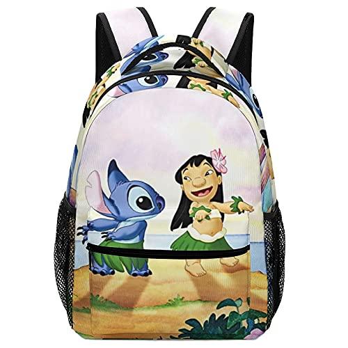 Lilo Stitch - Mochilas para niños de alta capacidad para estudiantes de primaria y secundaria, ultraligeras y con múltiples compartimentos