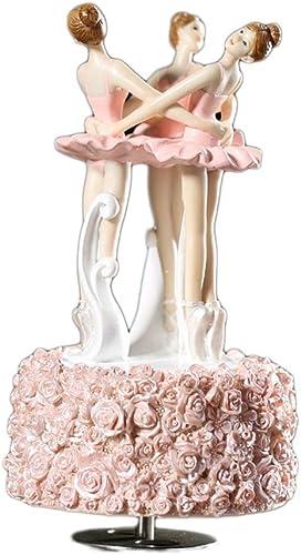 LILY-music box Manuelle Spieluhr Ballett rotierenden Harz Tanzen mädchen Spieluhr kreative Dekoration Spieluhr Geburtstag Guter Sound