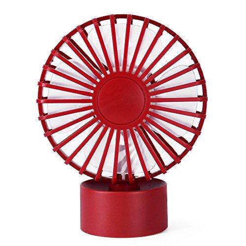 Mini ventilatore ufficio portatile piccole ventole silenziose usb desktop creativo fan, rosso