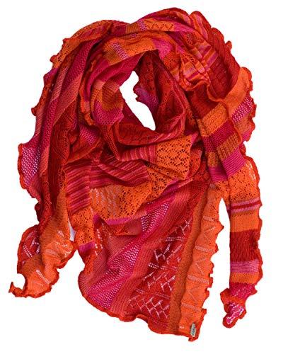 Invero, Merino Dreieckstuch/Schal Kyra, 100% Wolle (Flamenco)