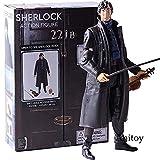 YanZiHuFuPin Sherlock Holmes Detective Sherlock Figura de accin con telfono Crneo violn Brazos poseibles Modelo de PVC Juguete Coleccionable