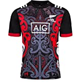 Rùgby Jérsey Men Nueva Zelanda All Blacks, Camiseta de Entrenamiento de Rùgby, Camisa Deportiva,Red-L