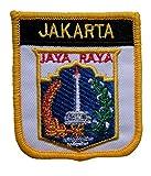 1000 Flaggen Jakarta Indonesien Schild Bestickt Patch Badge