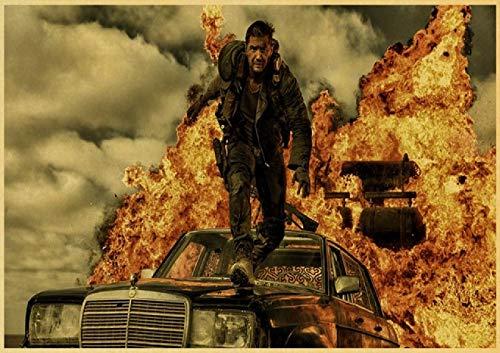 HuGuan Leinwand Druck Poster 60x90cm Mad Max Tom Hardy Charlize Theron Film Wohnkultur T24 Wandkunst Kunstwerk Malerei Kunstdrucke Bild Kein Rahmen