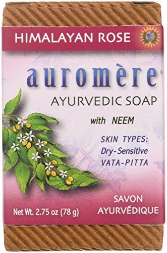 Auromere - Pain de savon Ayurvédique avec Neem bio Rose de l'Himalaya - 2.75 oz.