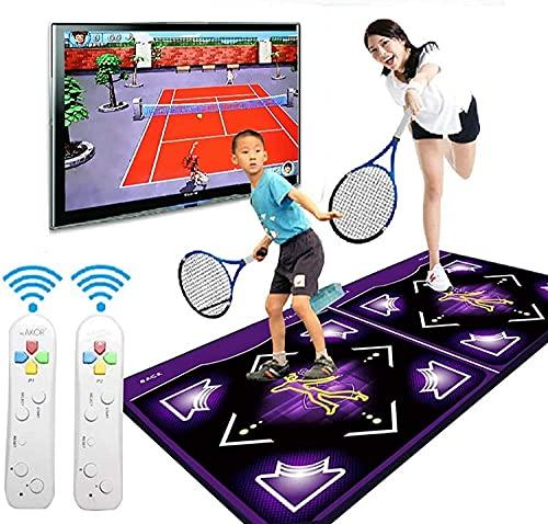 NKTJFUR Estera Doble doblada Plegable, Aislamiento de Sonido Soft 3D Somatosensory Juegos Pads Computer TV Doble Propósito para Home Gym Herramientas para Adultos/niños