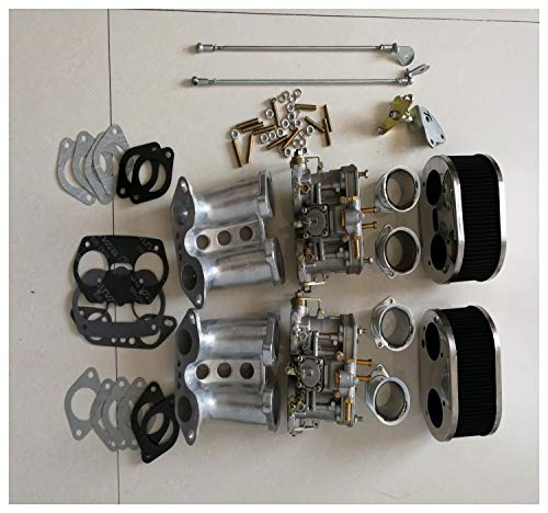 Fashion SHOP Carburador SherryBerg carburador FAJS conversión Carb Kit 40IDF 40 mm IDF T1 Tipo 1 for Porsche 356 914 Weber dellorto carburador EMPI Controlar
