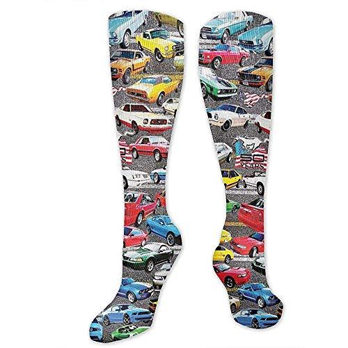 yantaiyu-sock Outdoor Socken Für Mädchen,Mustangs Compression Socks Für Frauen Und Männer 50Cm-Best Medical, Für Laufen, Sport, Krampfadern, Reisen.