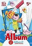 Sabbiarelli Sand-it for Fun - Album Le Fatine dei Fiori: 5 Disegni Adesivi da Colorare con la Sabbia (Non Inclusa), Adatto per Bambini Anni 5+