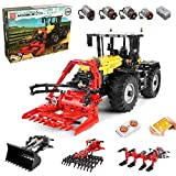 Technik Traktor Technic Ferngesteuert Traktor, Mould King 17019, 2596 Teile, mit 4 Motor, 4-in-1...