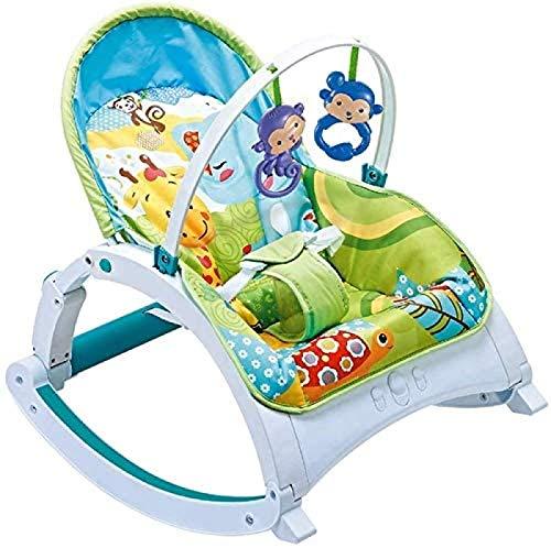 Mecedora para Bebé Silla Cómoda para Dormir Multifunción con Música Vibración Cinturón De Seguridad El Respaldo Se Puede Subir Y Bajar