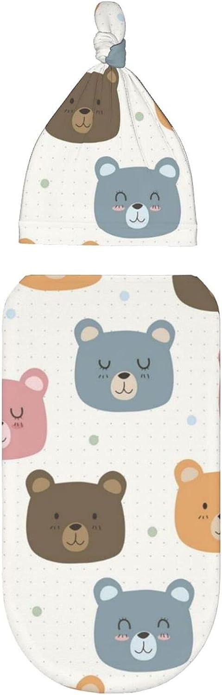 Manta para bebé recién nacido, lindos osos coloridos de dibujos animados, mantas de recepción de capullo, pañales para bebés de 0 a 3 meses, ropa para recién nacido para bebé niña