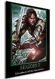 Instabuy Poster Fantasy Heroes Aragorn II Manifesto 70x50