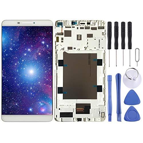 Ebogor PARA Pantalla LCD y Montaje Completo de digitalizador con Marco para Lenovo Yoga Tab 3 Plus/TB-7703X ZA1K00700RU (Blanco) (Color : White)