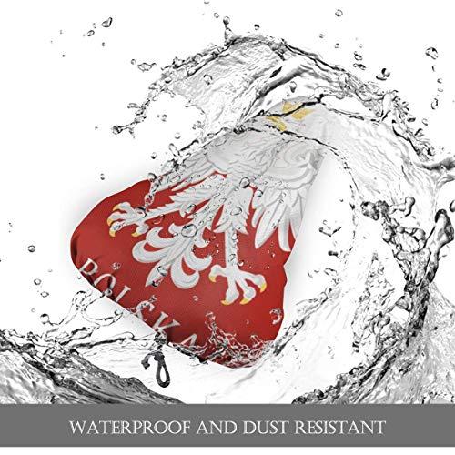 Alice Eva Polnische Flagge Polen Polska Sitzbezug für Fahrrad, Fahrradsitzkissenbezug mit Kordelzug, Fahrradsattel Regenbezug