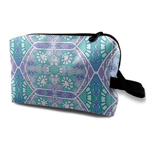 Trousse de toilette pour sac à main, dans un lieu violet, vert et bleu, tissu Oxford coloré
