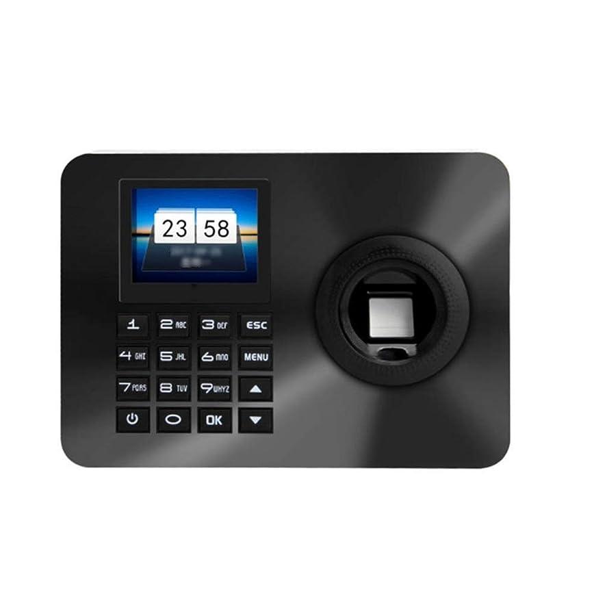 前文絵バイアス指紋出席機 2.4インチTFTディスプレイ画面の指紋パスワードの認識時間出席マシンアクセス制御システムは、チェックインレコーダー 従業員チェックインレコーダー (色 : ブラック, サイズ : Oner size)