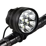 Best Cree Bike Lights - Weihao Bicycle Headlight, 10500 Lumens 7 LED Bike Review