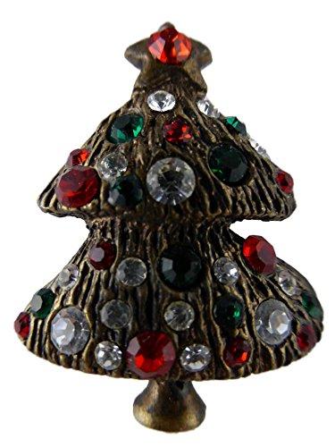 Star Brosche/Anstecknadel/Pin Weihnachten Weihnachtsschmuck Heilig Abend Tanne Baum Weihnachtsbaum B195