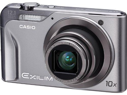 Casio EXILIM EX-H10 SR Digitalkamera (12 Megapixel, 10-Fach Opt. Zoom, 7,6 cm (3 Zoll) Display, Bildstabilisator) Silber