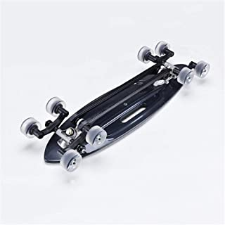 LBWNB Skateboard Adults Skateboard, Plastic Skateboard Cruiser Skateboard 22 Inches Flash Wheel Skateboard Intense Acceleration Waveboard for CommutingTravel for Children, Adults, Teens