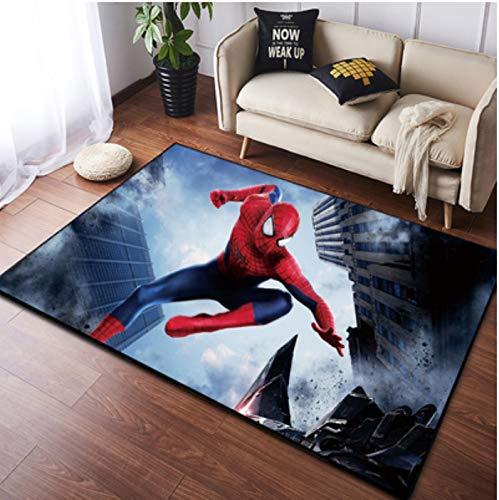 zzqiao Tapis Style Européen Et Américain De Dessin Animé Anime Spiderman Chambre Anti-Dérapante pour Enfants Tapis Salon Chambre Iron Man Avengers Marvel 60 * 90 Cm