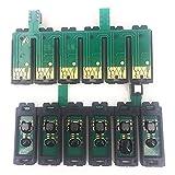 Accesorios de impresora Starcolor 6 colores T0851-T0856 T0821N-T0826N T0791-T0796 Chip Ciss ARC compatible con el sistema de suministro continuo de tinta de la impresora Epson 1390 T50 (Color: T50 821