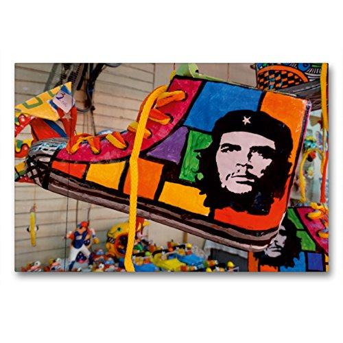 CALVENDO Premium Lienzo 90 cm x 60 cm Horizontal, Souvenir Cubano con el Retrato de Che Guevaras Imagen sobre Bastidor, Listo en Lienzo auténtico, impresión en Lienzo Orte Lugares.