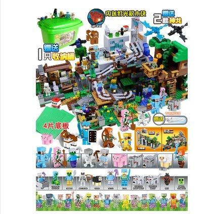 Manson Minecraft Juguetes 6588 edificio cueva máquina del bloque de conjunto completo de actualizaciones de juguete for los juguetes de los niños Juguetes miniatura de Minecraft en miniatura de los ni