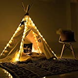 Ginkago Fairy Led Light for Teepee Tent Kids 4 Pole for Bedroom Play Tent Indoor Decoration Battery Powered for Children Kis Girls Boys