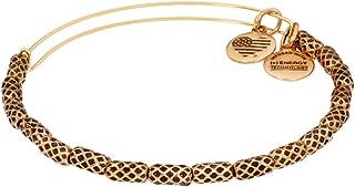 Beehive Beaded Rafaelian Gold Finish Bangle Bracelet A16EB108RG