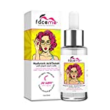 FACEME Hyaluronic Acid Serum for Face - Anti-Aging + Youth-Promoting Face Serum - Organic Firming Serum - Moisturizer Hyaluronic Acid with Vitamin C and Plant Stem Cells - 1oz Dropper Bottle