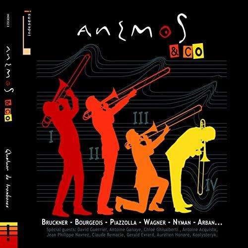 Anémos trombone quartet, David Guerrier, Antoine Ganaye, Jean Phillippe Navrez & Antoine Acquisto