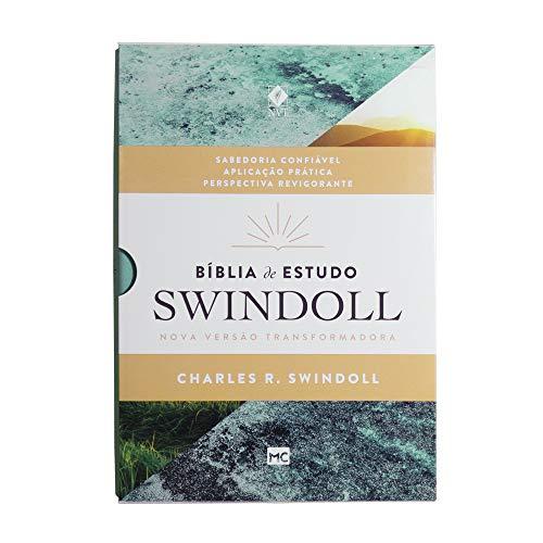 Bíblia de Estudo Swindoll: NVT - Capa Aqua