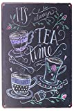 Sumik It's Always Tea Time Blechschild, Vintage-Art-Plakat