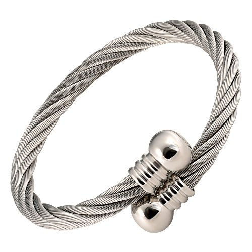 MAGNETJEWELRYSTORE Magnetic Therapy Bracelet High Power Stainless Wire Door Knob